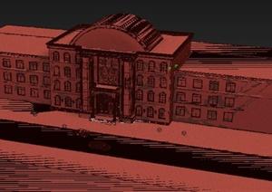 某會所建筑外圍裝潢設計3DMAX模型