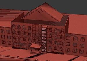 某會所外裝設計3DMAX模型