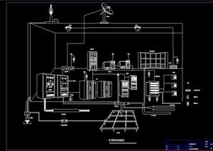 某日报社计算机机房装饰电气弱电消防环境监控CAD施工图