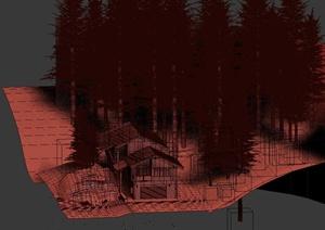 某两层住宅建筑景观设计3DMAX模型