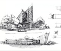 办公建筑,全景图,现代风格