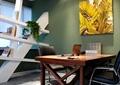 办公室,办公桌,装饰画,书柜
