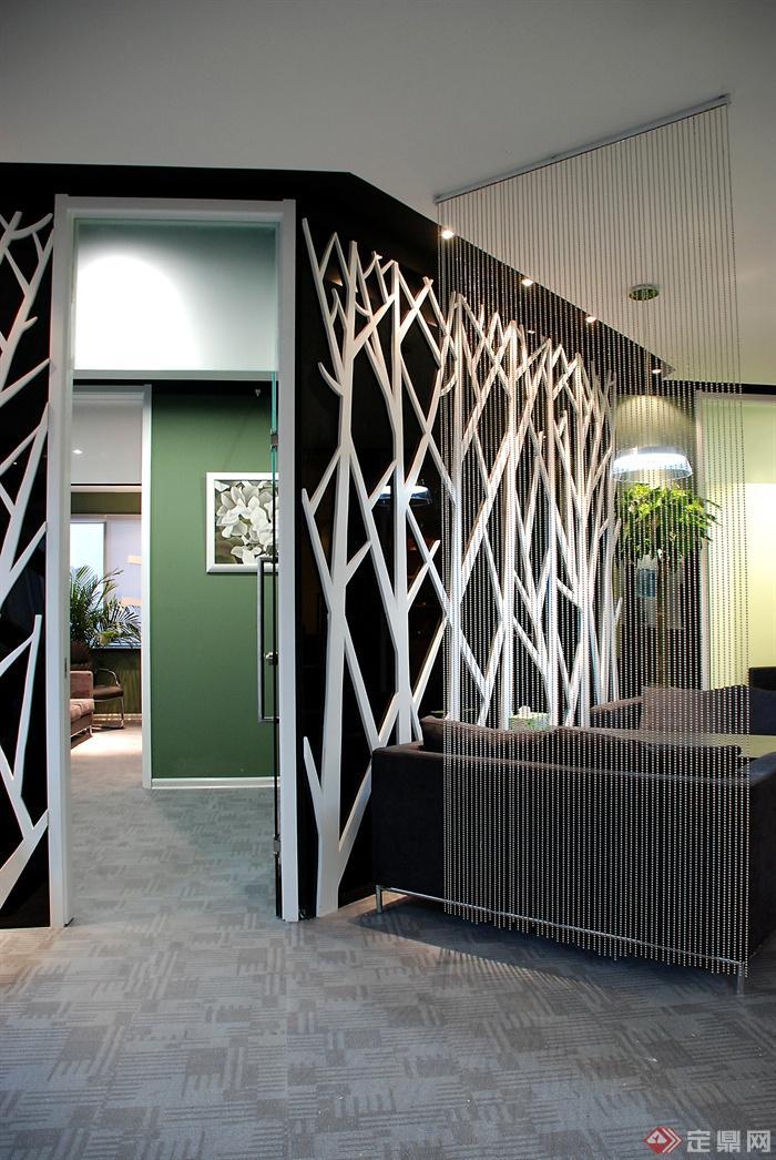 办公空间,办公室,装饰墙,沙发