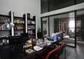 办公室,办公桌椅,书架,陈设,隔断