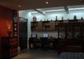 办公空间,形象墙,办公桌,隔断,边柜