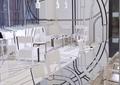 餐桌,长桌子,椅子,吊灯
