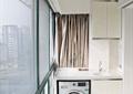 阳台,洗衣机,小衣柜,灯饰,玻璃床
