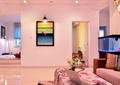 客厅,茶几,沙发,鱼缸,装饰画