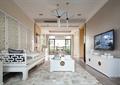 客厅,镂空屏风,沙发茶几,电视,电视柜
