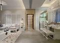 客厅,屏风,餐桌椅,吊灯,沙发,边柜