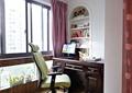 阳台,椅子,办公桌,书架,书籍,电脑,窗子,窗帘,摆件