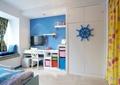 孩子房,写字桌,电视,柜子,椅子,摆件,灯饰,背景墙