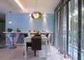 餐厅,餐桌,休息台,椅子,吊灯
