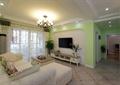 客厅,电视墙,电视柜,茶几,沙发,电视,吊灯