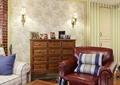 单人沙发,地柜,壁灯