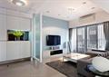 客厅,玄关柜,沙发,茶几,电视柜,隔断,电视背景墙