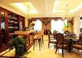 餐厅,餐桌椅,吧台,酒柜,高脚椅,吊灯