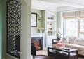 客厅,茶几,沙发,置物柜,壁炉