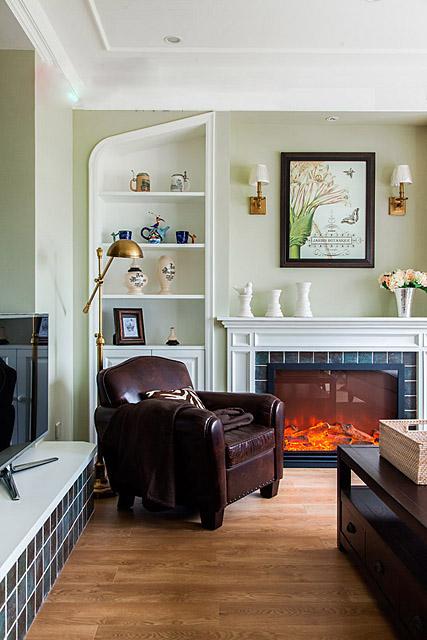 客厅,沙发,置物柜,壁炉