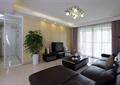 客廳,鏤空隔斷,隔斷,電視柜,電視,茶幾,盆栽,沙發,吸頂燈