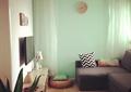 客厅,沙发,坐垫,挂钟