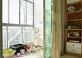 阳台,植物盆栽,窗帘,门