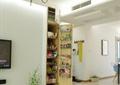 背景墙,柜子,桌子,植物盆栽