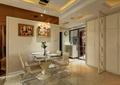 餐厅,餐桌椅,插花摆件,相框,背景墙,吊灯