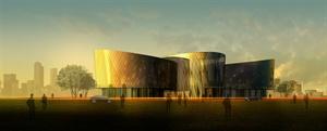某培訓中心文體中心建筑設計效果圖