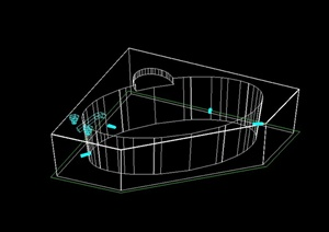 室内厨卫设施的CAD三维模型