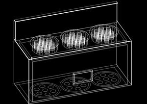 室内厨房设施设计CAD模型