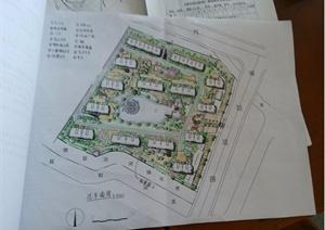 某小区景观设计手绘方案图