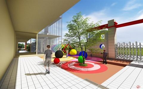 方圆经纬幼儿园景观设计
