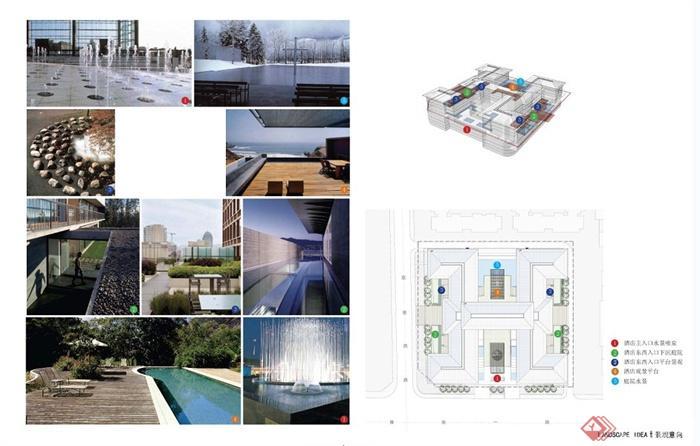 新中式风格五星级酒店建筑设计方案文本(6)