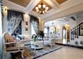 客厅,沙发茶几,吊灯,栏杆,陈设