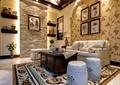 客厅,沙发,茶几,椅子,装饰墙,置物架