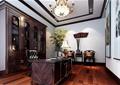 书房,办公桌椅,茶桌椅,书柜,灯饰,植物