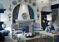 客厅,壁炉,柜子,摆件,沙发,茶几,花瓶插花