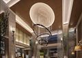 会所,水晶吊灯,柱体装饰