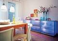 餐厅,地柜,摆件,背景墙,餐桌椅