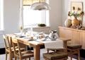 餐厅,餐桌椅,餐具,吊灯