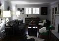 客厅,沙发,茶几,边柜,装饰好,台灯,电视墙