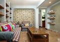 客厅,沙发,茶几,置物墙,背景墙,电视墙