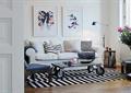 客厅,茶几,沙发,装饰画,边几,落地灯