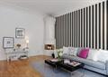 客厅,沙发,茶几,柱体装饰,背景墙