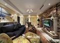 客厅,沙发,茶几,电视墙,吊灯,陈设,电视柜
