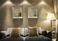 客厅,沙发,背景墙,边几,落地灯