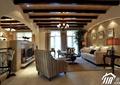 客廳,沙發,茶幾,背景墻,吊燈,邊幾,電視墻
