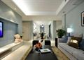 客厅,沙发,茶几,电视墙,台灯