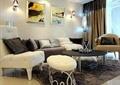 客厅,茶几,沙发,椅子,装饰画,壁灯